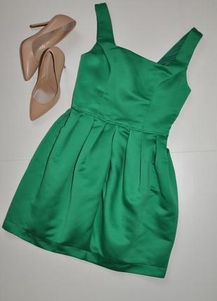 Шикарное ярко зеленое платье topshop
