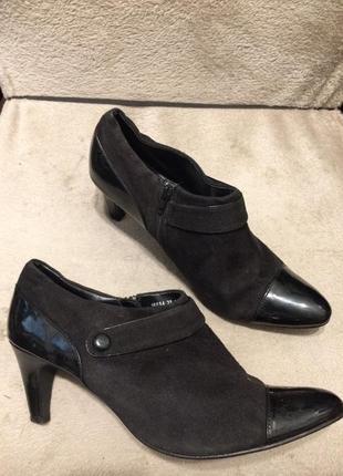 Bhs замшевые ботильоны туфли