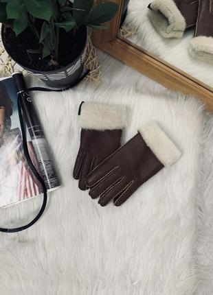 Теплющі рукавички з хутром, нові🌿