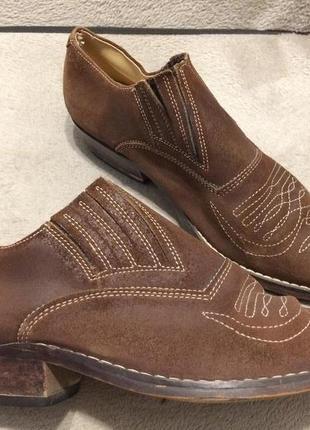 Кожаные замшевые туфли