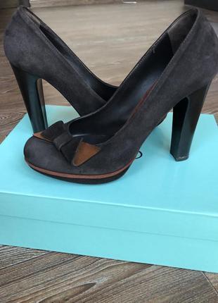 Туфли norma j baker (оригинал), 38размер шоколадного цвета