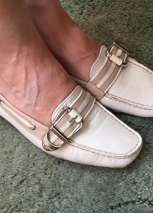 Кожаные мокасины geox 36-36.5 р. туфли