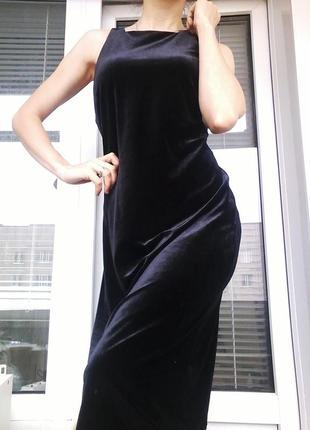 Шикарное велюровое платье esprit