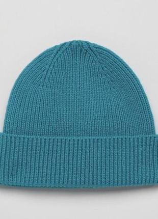 Сине-зеленая шапка-бини asos design !