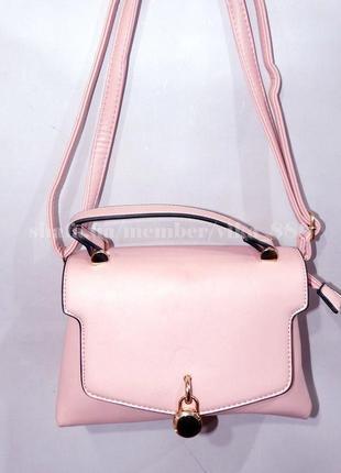 Клатч, сумка через плечо на два отделения 650 розовый