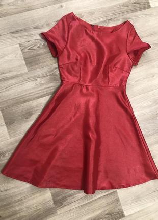Платье из плотной ткани, р.с