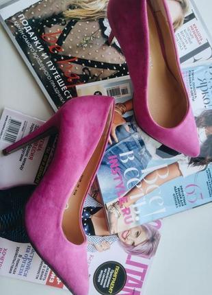 Туфли лодочки замш розовые atmosphere