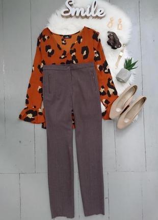 Актуальные прямые классические брюки слим №20max.