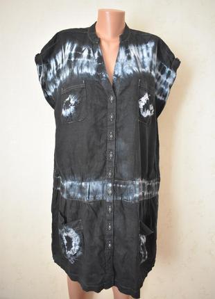 Новое льняное платье большого размера next