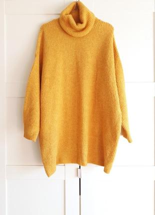 Объемный теплый свитер оверсайз