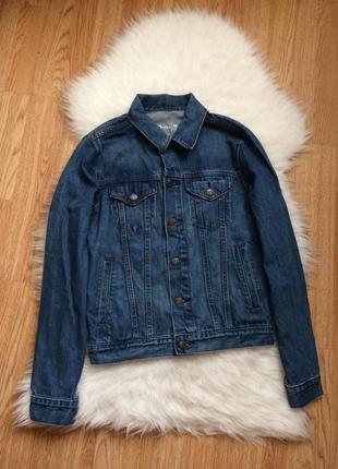 Синяя джинсовая куртка оверсайз gap оригинал,фирменная винтажная джинсовка на пуговицах