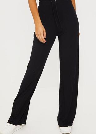👑♥️final sale 2019 ♥️👑  классические черные брюки свободного кроя