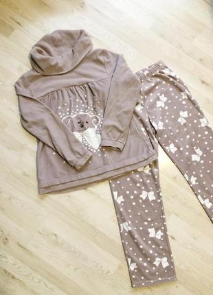 Тёплая флисовая пижама размер m l