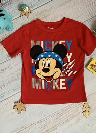 Новая фирменная футболка disney мальчику 5-6 лет