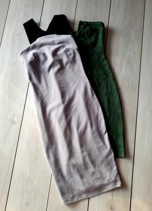 Фактурное мраморное платье миди