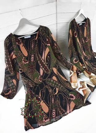 Платье колоколчик а-силуэт шифон шифоновое италия kaos italy