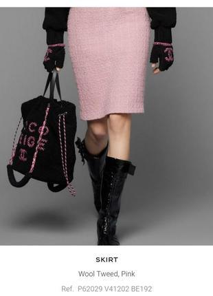Роскошная юбка в стиле chanel от elegance paris, шерсть, р.46