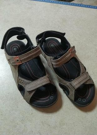 Отличные сандали ecco кожа+замш