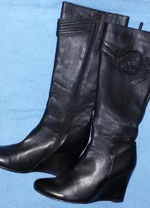 Сапоги stoalos осенние женские кожаные