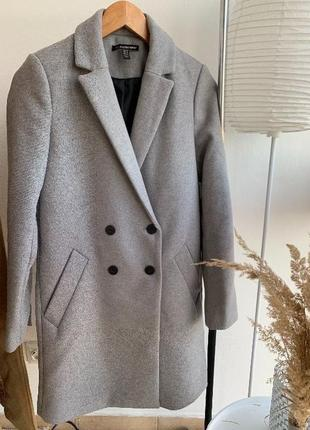 Сіре пальто zara xs