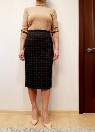 Стильная юбка -карандаш max mara р 38