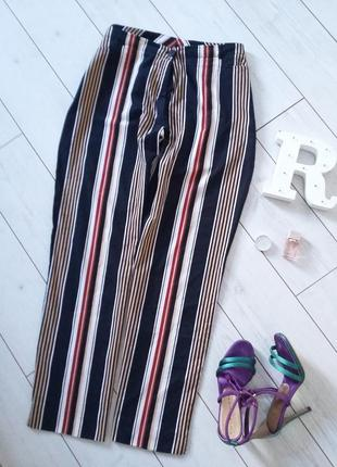 Мега модные брюки на высокой посадке хлопок с эластаном