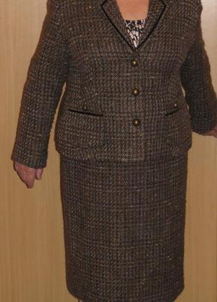 Шерстяной костюм шерсть альпака мохер брэнд viyella