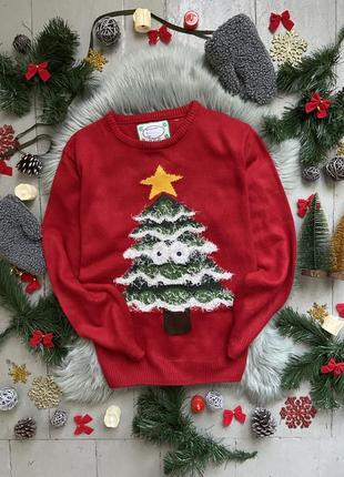 Новогодний рождественский свитер джемпер с елкой №6