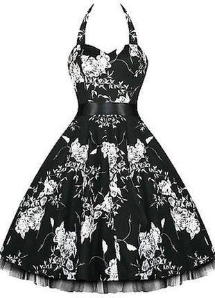 Красивое платье рокабилли пин-ап hearts & roses