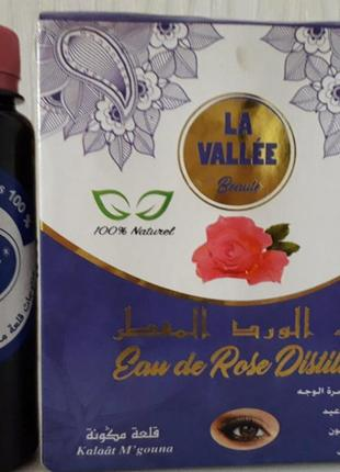 Натуральная розовая вода (гидролат дамасской розы) из марокко