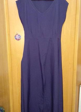 Платье на запах с поясом в пол