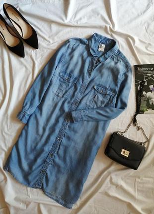 Джинсовое платье рубашка джинсова сукня плаття