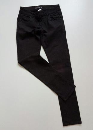 🌿отличные узкие джинсы с микроблестками here& there