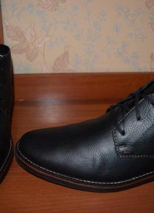 Тёплые кожаные ботинки на натуральном меху rieker-tex (германия)