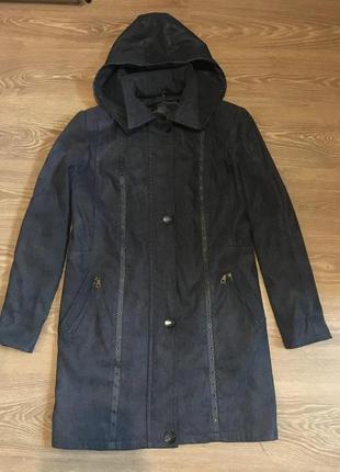Курточка женская демисезонная осень весна куртка парка синяя переливается