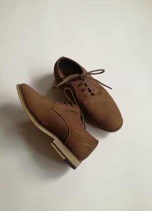 Туфли коричневые для мальчика 18 см