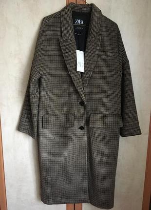 Пальто zara oversize