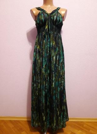 Красивое длинное в пол шифоновое платье сарафан от jasper conran. размер 44 - 46.