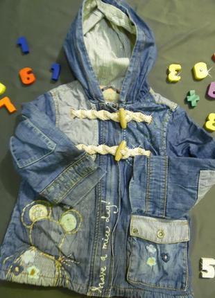 Куртка курточка пальто вышивка с вышивкой джинс джинсовая с капюшоном яркая