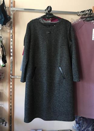 Повседневное платье букле , большой размер