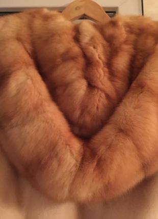 Шикарная норковая шуба с аукциона шикарный мех с густой подпушком и соболь воротник