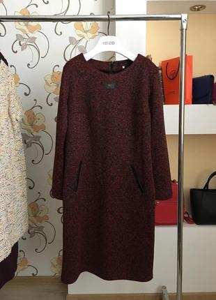 Повседневное , стильное платье букле , большой размер