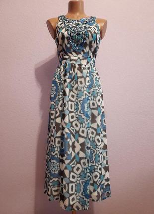 Красивый длинный шифоновый сарафан платье от collection debenhams. размер 42.