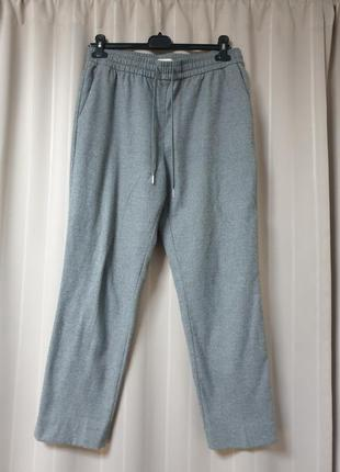 Теплые серые брюки h&m