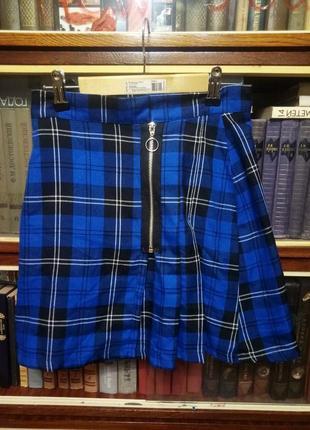Юбка в клетку дорогого британского бренда the ragged priest панк шотландка килт