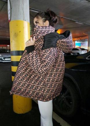 Пуховик, курточка fendi (двухсторонний)