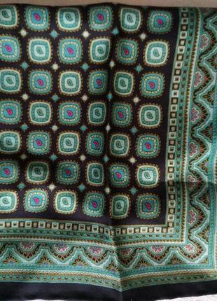 Карманный, нагрудный шёлковый платочек-паше, роуль, 33х33 см.
