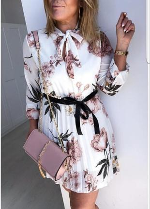 Нежное итальянское шифоновое платье!