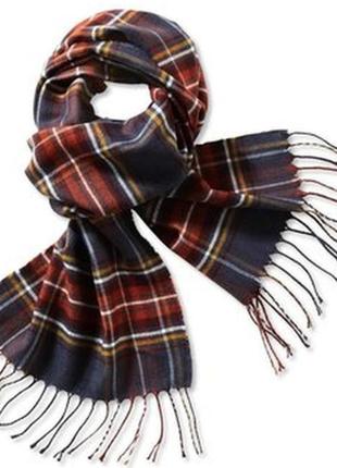 Мужской стильный шарф в клетку от немецкого бренда от tchibo