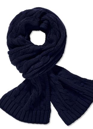 Уютный мужской шарф крупной вязки от tchibo (германия), размер универсальный